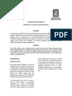 INFORME DE LABORATORIO SUPERFICIES H. LÍNEAS DE CAMPO ELÉCTRICO