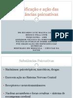 Classificação e ação das substâncias psicoativas 2013.ppt
