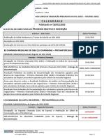 Calendario Do Processo Seletivo Ufal SiSU 2020.1