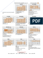 School Calendar 2019 – 2020 Draft final