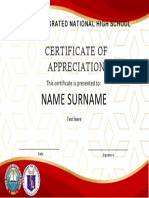 TLE certificate