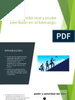 PODER REAL Y PODER PERCIBIDO EN EL LIDERAZGO