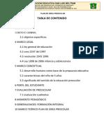 plan de area preescolar 2018
