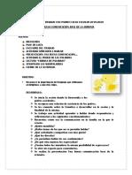 2° SESION DE TRABAJO CON PADRES