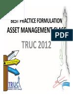 Best Practice Formulation 2012 - Asset Management Class