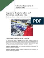 ingeniería de planta y matenimiento -conceptos