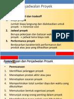 penjadwalan proyek