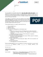 Annex 3 Draft Letter