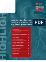 Aspectos Destacados de Las Guias de La American Heart Association de 2010 Para RCP y ACE