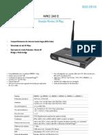 Catálogo_WRG 240 E - Roteador Wireless 54 Mbps_Português