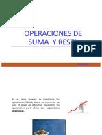 Unidad 1-Operaciones Suma y Resta