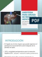 Anestesia para cirugía de resección hepática