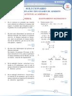 II SIMULACRO - SOLUCIONARIO 3RO