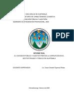 20. Infome. El Contador Público y Auditor frente a la corrupción en el Sector Privado y Público en Guatemala