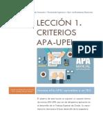 Criterios APA-UPEL