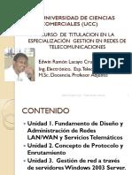 Unidad 1. Gestion de Redes Telecomunicaciones