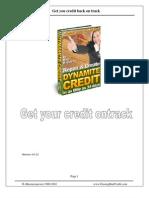 Erasing Bad Credit Manual 0402