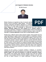 Research Support in Modern Libraries by Abid Hussain library officer