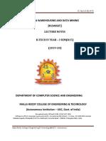 DATA WAREHOUSING&DATA MINING