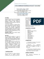 INFORME LAB 4 . ENSAYO DEL GENERADOR SINCRÓNICO EN VACÍO Y CON CARGA