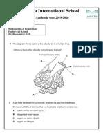 Biology 2nd Term Grade 8b Worksheet No.2 (m.c.q.s)
