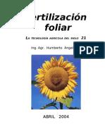 Fertilizacion Foliar - Febrero 2010- Libro de 100 Pp.