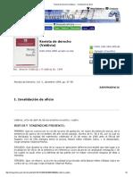 Revista de derecho (Valdivia) - I. Invalidación de oficio
