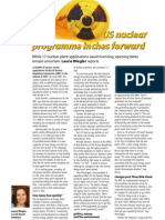 """""""US nuclear programme inches forward"""" - The Chemical Engineer/TCE Today (UK)"""