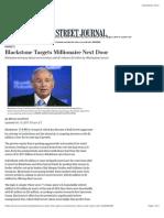 Blackstone Targets Millionaire Next Door