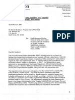 Dennis Beetham PreEnforcement Notices from Oregon DEQ Starting Sept. 21. 2007 through July 9, 2008