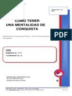 2020 MES 2 DIA 03 - E. CELULAS - COMO TENER UNA MENTALIDAD DE CONQUISTA - MANUEL LOPEZ