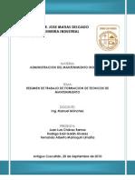 Resumen de Formacion de Tecnicos de Manteniento 2 2010 AMI