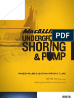 MacAllister Underground Shoring and Pump Brochure