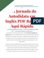 ➝ A Jornada Do Autodidata Em Inglês PDF Completo