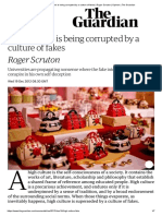 High culture is being corrupted by a culture of fakes _ Roger Scruton _ Opinion _ The Guardian