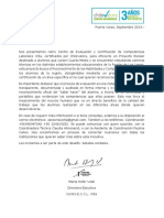 Carta Presentación Proyecto