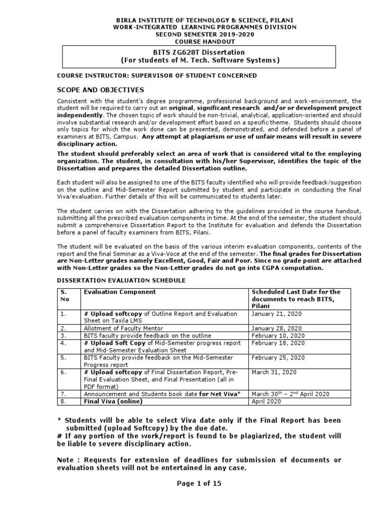 Bits pilani ms dissertation essays play fences august wilson