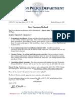 Morrison Snow Emergency Declared