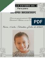 PASILLO ESTUDIO NO. 2 PARA PIANO. Gerardo Betancourt