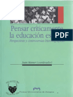 Juan Mainer (coordinador), Pensar críticamente la educación escolar Perspectivas y controversias historiográficas