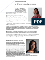Mujer indígena sobresaliente nivel nacional e internacional