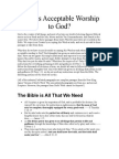 What is Acceptable Worship to God