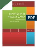 Exportacion de Pisco a Holanda