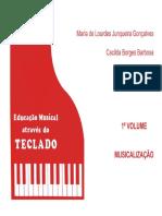 Método Ensino de Piano Maria de Lourdes livro 1