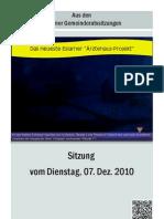 Eslarner Gemeinderatssitzung 07.12.2010