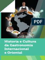 Historia e Cultura da Gastronomia Internacional e Oriental