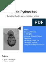 Live de Python #49