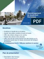 Présentation de la Ville de Quebec - réamenagement du boulevard Hochelaga