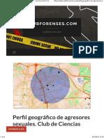 Perfil geográfico de agresores sexuales