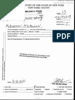 New York vs NRA/Ackerman  Subpoena order